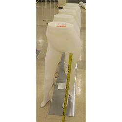 Qty 5 Bottom Half Mannequins on Metal Stands