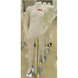 Qty 4 Full Body Mannequins on Metal Stands