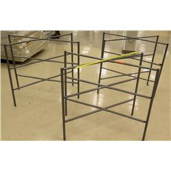 "Qty 3 Metal Crossed Displays 36""H"