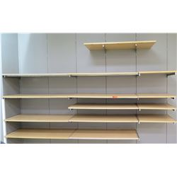 "Customizable Wooden Wall Shelf Assembly w/ Brackets (Smallest Shelf: 25""L x 15""W; Largest: 48""L x 24"