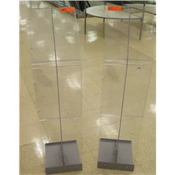 Qty 2 Plastic & Metal Display Sign Holders