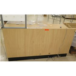 "Rectangle Wood Laminate Service Counter w/ 6 Cubicles Below 60""L x 24""D x 33.5""H"