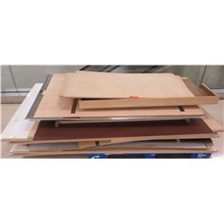"Pallet Misc Wood & Pressboard Pieces, Misc. Sizes; 76""L, 71""L, 62""L, 50.5""L, etc."