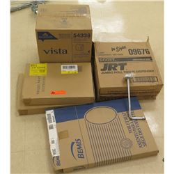 Multiple Boxes Toilet Paper Holders, Seat Covers, etc