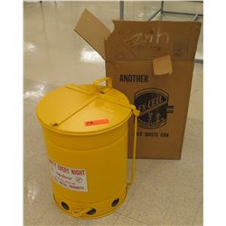 Ex-Cell Yellow Metal Safe Guard Oily Waste Can