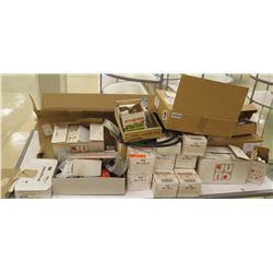 Multiple Misc Boxes Trac Masters, Light Holders, Exit Signs, etc