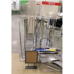 Multiple Misc Metal & Plastic Adjustable Sign Holders