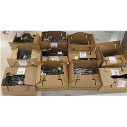 Qty 11 Boxes Metal Shelf Hangers