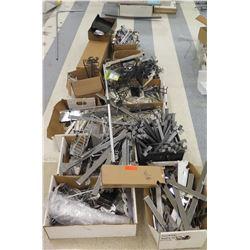 Multiple Boxes Metal Sign Holder Parts, Rails, Connectors, etc
