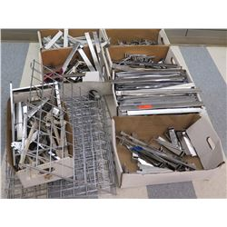 Multiple Boxes Metal Wire Rack Parts, Rails, Connectors, etc