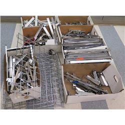 Multiple Boxes Metal Wire Rack Parts, Rails, Connectors, etc