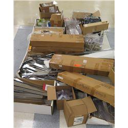 Multiple Boxes Metal & Plastic Rack Parts, Rails, Face Outs