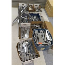 Multiple Boxes Metal Rack Parts, Rails, Connectors, etc