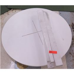 "Round White Table Unassembled, 36"" Diameter"