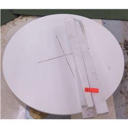 "Round White Table Unassembled, 36"" Diameter"