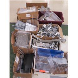 Multiple Boxes Metal & Plastic Rack Parts, Rails, Connectors, etc