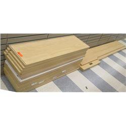 Qty 2 Stacks Assorted Size Wood Shelf Panels