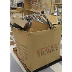 Box on Pallet Metal Rack Parts, Rails, Wheels, etc