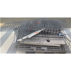 """Pallet Misc Pegboard & Wire Shelving Sections, Misc. sizes; 89""""L, 61""""L, 48""""L, etc."""