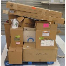 Pallet Misc Boxes Victor Juno Light Fixtures, Metalux Fluorescent, etc