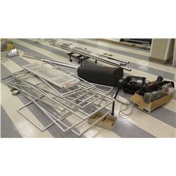 Multiple Rectangle Metal Display Holders, Poles Adjustable