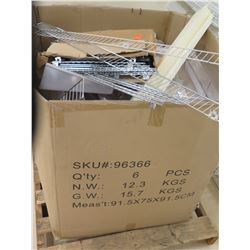 Box on Pallet Metal Wire Rack Shelf Parts