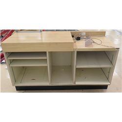 """Wooden Service Cabinet w/ 6 Cubicles Below 60""""L x 24""""D x 33.5""""H"""