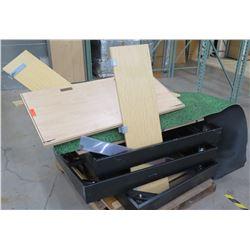 Pallet Multiple Misc Wood & Pressboard Shelf Panels w/ Drawers, etc