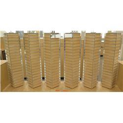 6 Mounted Rotating Slatwall Panel Wood & Chrome Small Display Racks