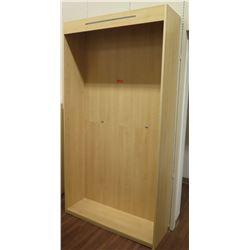"""Large Wooden Display Box w/ Headboard 48""""L x 15""""D x 90""""H"""