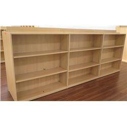 "Long Wooden 9 Cubicle Display Shelf Unit 143""L x 29""D x 53""H"