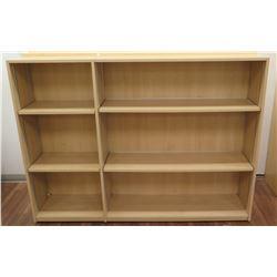 "Wooden 6 Cubicle Display Shelf Unit 71.5""L x 29""D x 53""H"
