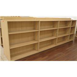 "Long Wooden 12 Cubicle Display Shelf Unit 166""L x 29""D x 53""H"