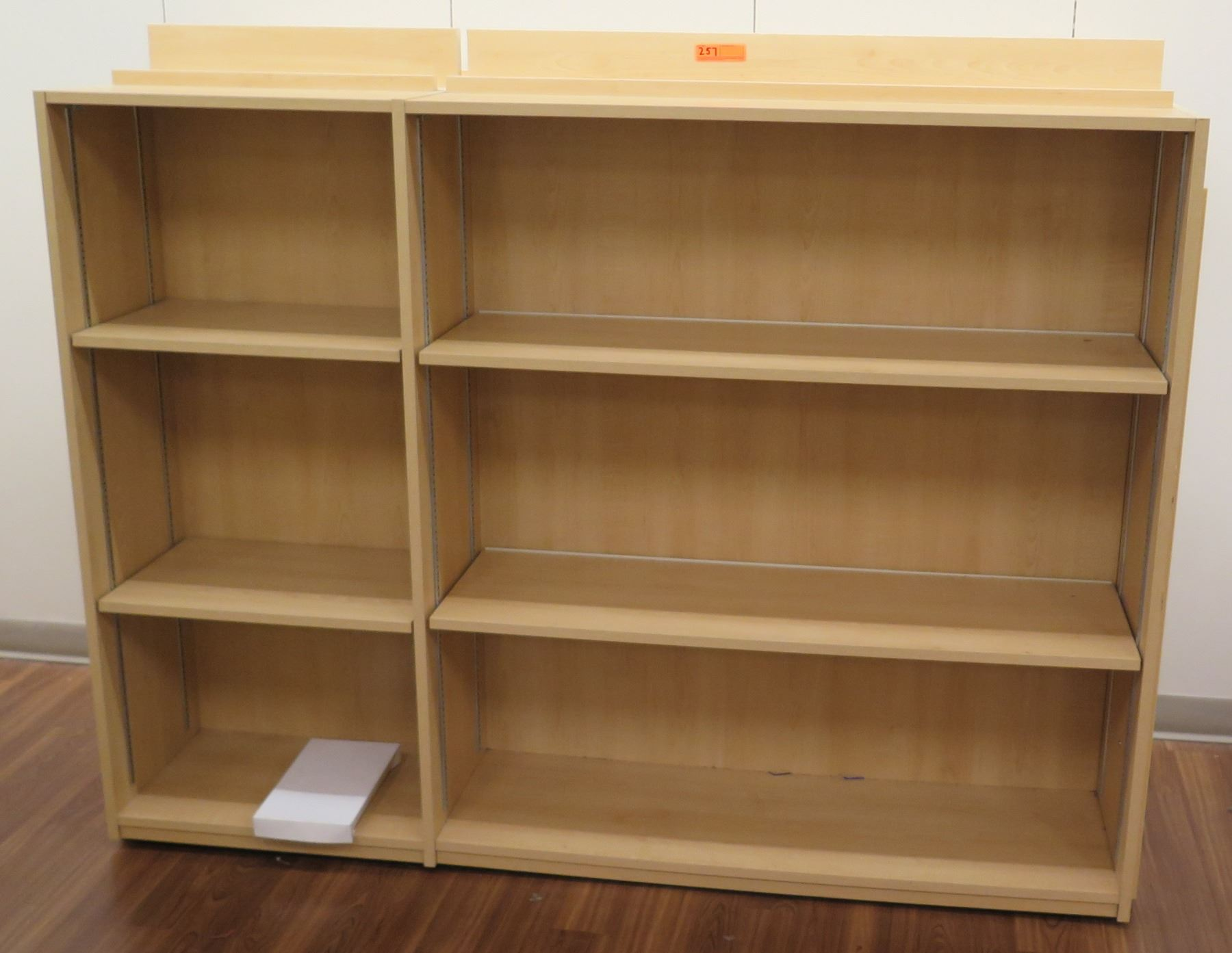 Wooden 6 Cubicle Display Shelf Unit 71 5 L X 29 D X 53 H