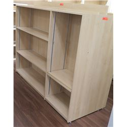 "Wooden 6 Cubicle Display Shelf Unit 71.5""L x 29""D x 53""H"
