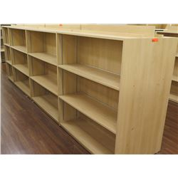 "Long Wooden 12 Cubicle Display Shelf Unit 166""L x 29""D x 53""H"