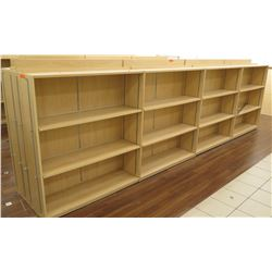 "Long Wooden 12 Cubicle Display Shelf Unit 190""L x 29""D x 53""H"