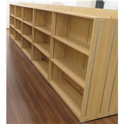 "Long Wooden 12 Cubicle Display Shelf Unit 238""L x 29""D x 53""H"