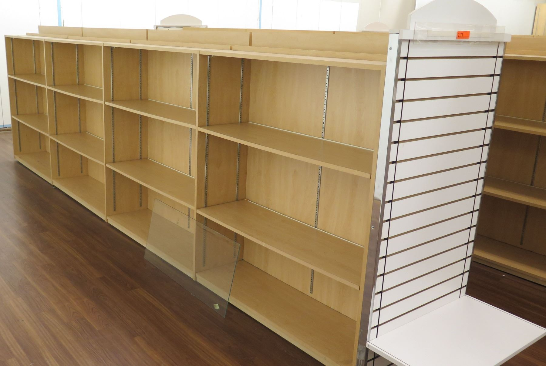 Long Wooden 12 Cubicle Display Shelf Unit 192 L X 29 D X 53