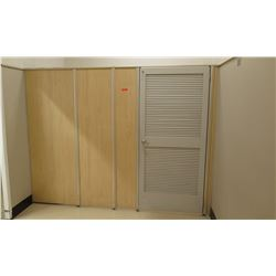 Qty 7 Fitting Rooms w/ Locking Doors & Inside Corner Shelf