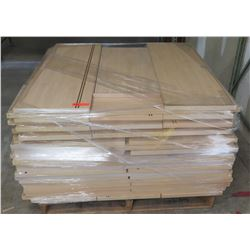 "Pallet Misc Size Wood Shelf Panels, Longer: 48""L x 15""W; Smaller: 36""L x 15""W"