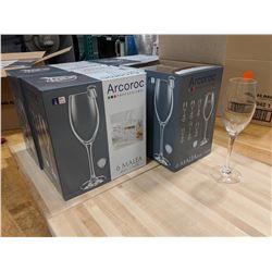 7.25OZ/220ML MALEA FLUTE GLASSES -  (1 CASE/4 BOXES