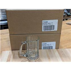 15OZ/440ML DISTINCT GLASS MUGS - LOT OF 24 (2 CASE