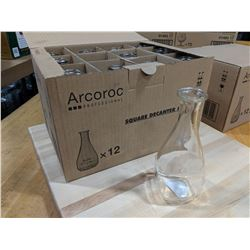 8.25OZ/250ML SQUARE DECANTERS - LOT OF 12 (1 CASE)