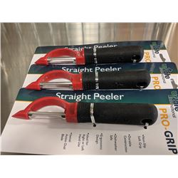 PRO-GRIP STRAIGHT PEELERS, UPDATE - LOT OF 3