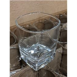 13OZ/380ML SQUARE DOUBLE ROCKS GLASSES-LOT OF 36 (