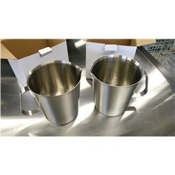 1000ML HEAVY DUTY STAINLESS MEASURES - LOT OF 2