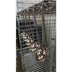 1OZ STAINLESS STEEL LADLES - LOT OF 6