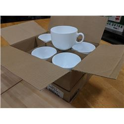 17OZ/500ML JUMBO WHITE MUGS - LOT OF 12 (2 CASES)