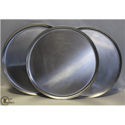 "THREE 16"" COMMERCIAL PIZZA PANS"